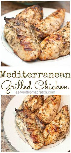 Super easy Mediterranean Grilled Chicken Breasts: