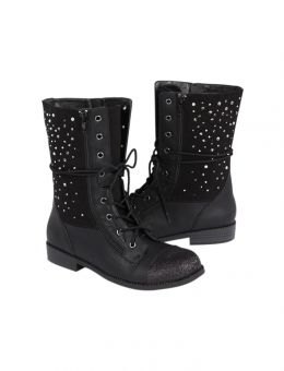 RHINESTONE COMBAT BOOTS | GIRLS BOOTS SHOES | SHOP JUSTICE