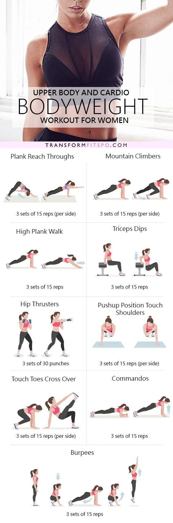 A killer 30 minute workout designed to target your upper body, giving you toned arms and a sexy back!