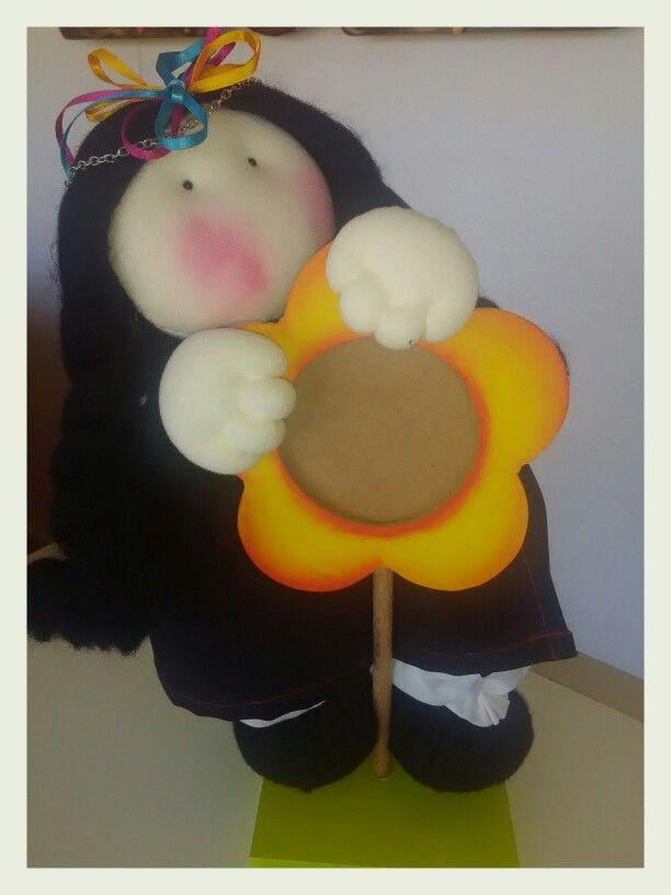 Muñeca mapuche para retrato...