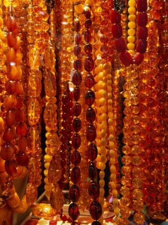Amber Beads at Grand Bazaar - Istanbul,Turkey