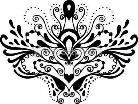 Patrón Del Tatuaje Blanco Y Negro Ilustración De Stock 5832989