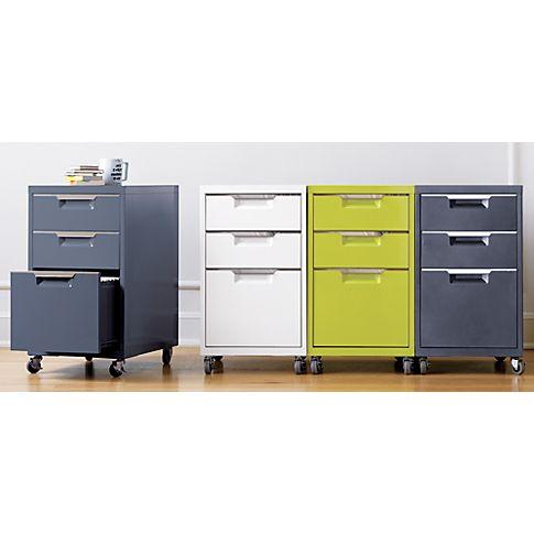 TPS white file cabinet in all storage   CB2
