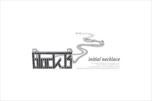 BLOCK.B (BLOCK B) - INITIAL NECKLACE BR12