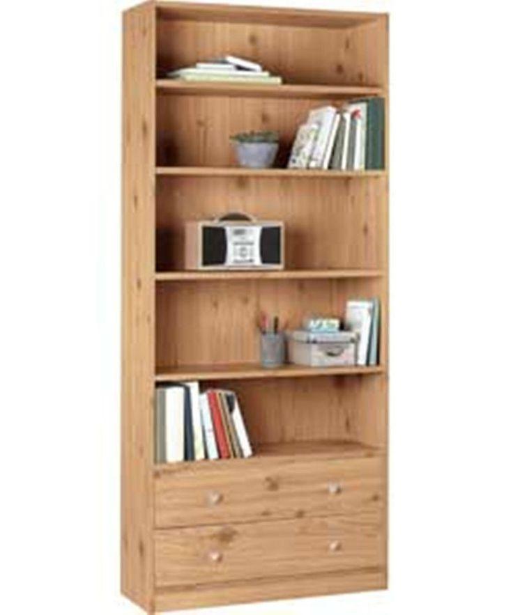 pine effect bookcase 2