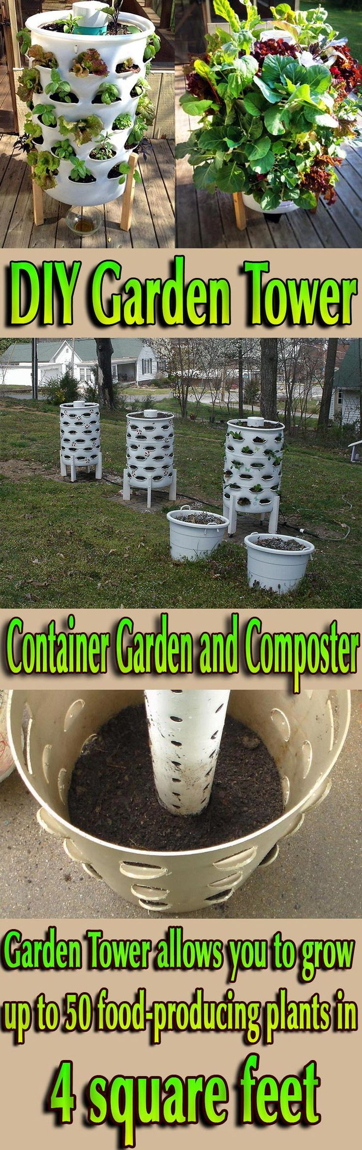 Container Garden and Composter. A Revolutionary Gardening and Composting Solution for Anyone! #gardening #diy #garden #planter