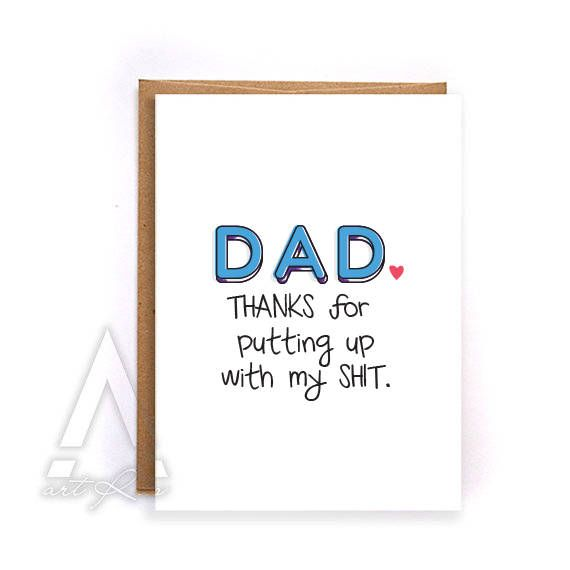 Fathers Day Card Funny Fathers Day Card From Daughter Fathers Day Card From Kids Greeting Ca Dad Birthday Card Christmas Gift For Dad Funny Fathers Day Card