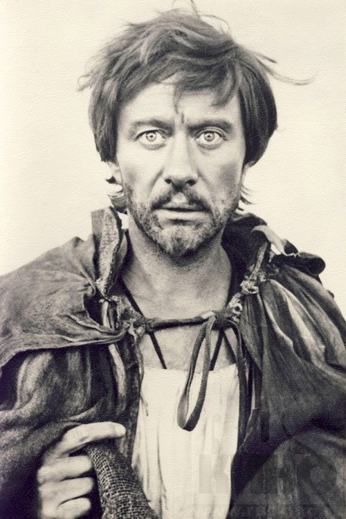 "screpochka:  Andrey Mironov (1941-1987) as Orlando in ""The Fairytale of the Wanderings"" / ""Сказка странствий"" (1983). Directed by A.Mitta, music by A.Schnittke.http://www.youtube.com/watch?v=nOPsq3H6QhIThe horrifying kids movie, I was always scared watching this, but Andrey's performance is absolutely terrific (just look into his eyes!). It's his Birthday today (or probably yesterday) …"