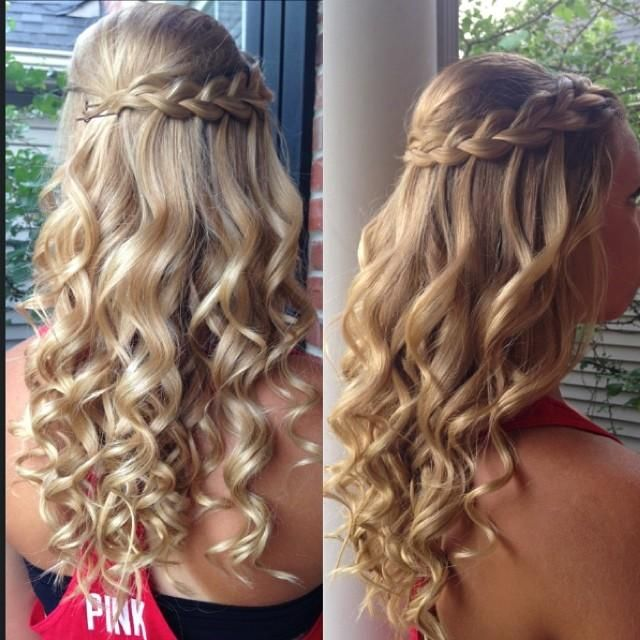 Feathered braid with curls