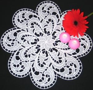 Advanced Embroidery Designs - Feather FSL Doily