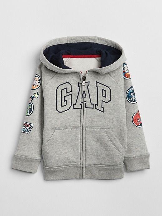 0f2c92e55 Gap Baby Babygap   Dc™ Logo Hoodie Sweatshirt Light Heather Gray ...