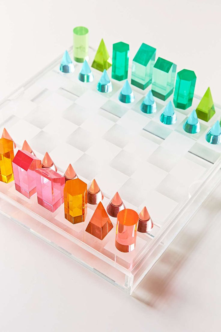 Lucite chess set