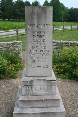 Davy Crockett memorial in Limestone, Tennessee.