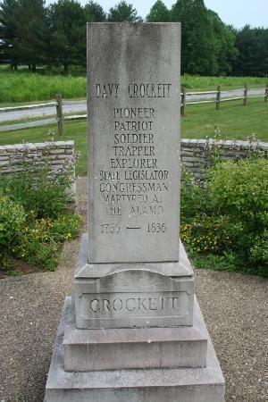 Davy Crockett memorial in Limestone, Tennessee.