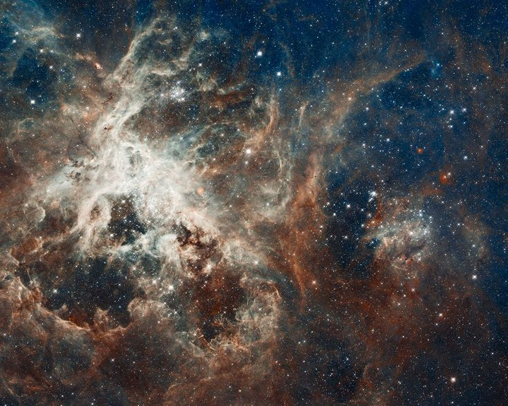 Several million stars are vying for attention in this NASA/ESA Hubble Space Telescope image of a raucous stellar breeding ground in 30 Doradus, located in the heart of the Tarantula nebula.