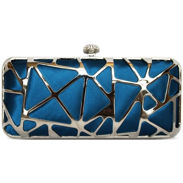 Blue Clutch Bag | Blue Clutch Bags Online UK ❤ liked on Polyvore