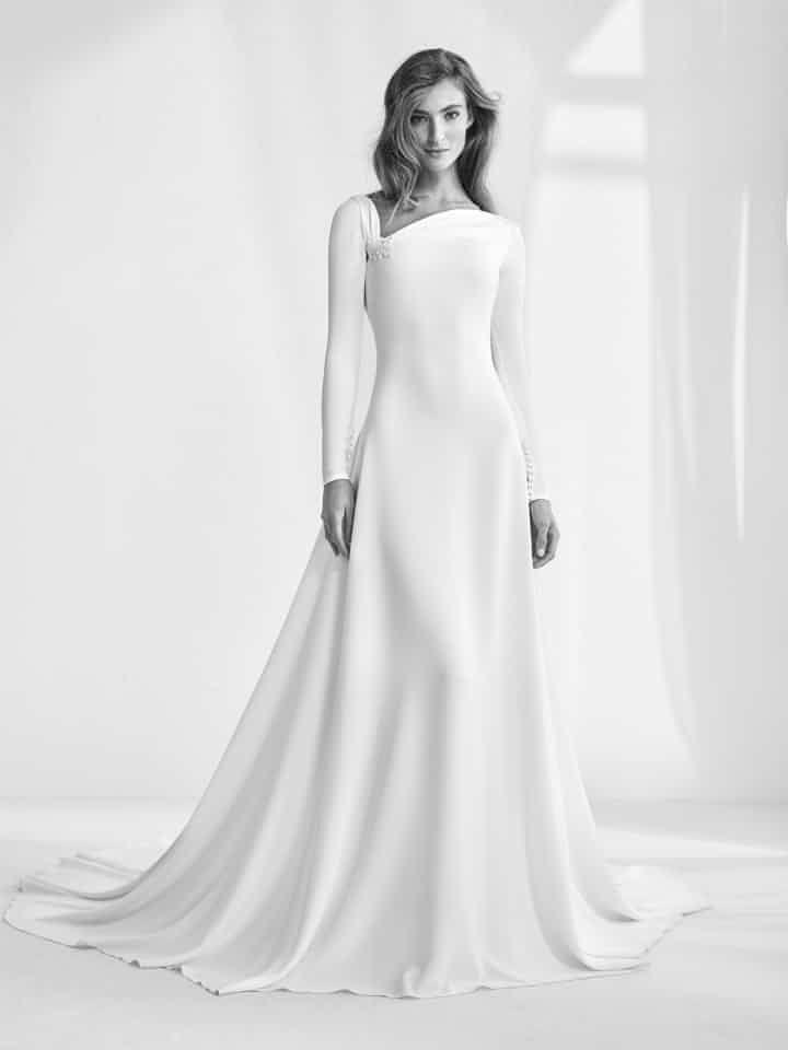 15 hermosos vestidos de novia 2018 con manga larga | vestidos novia