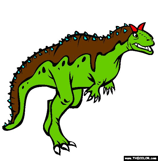 carnotaurus coloring page