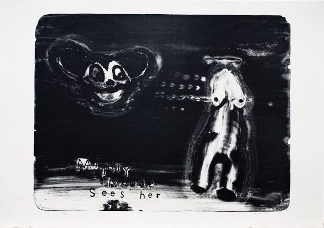 Item éditions - David Lynch - Mighty Mouse Sees Her - edition - litho still available as of 1/4/14