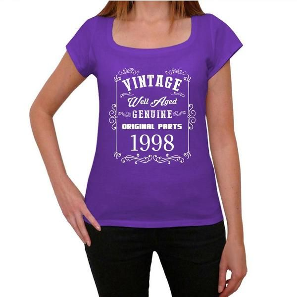 #vintage #well #aged #purple #tshirt  Hey color lovers, wear purple! Pick the best present here! --> https://www.teeshirtee.com/collections/vintage-well-aged-womens-t-shirt-purple/products/1998-well-aged-purple-womens-short-sleeve-rounded-neck-t-shirt-100-cotton-available-in-sizes-xs-s-m-l-xl