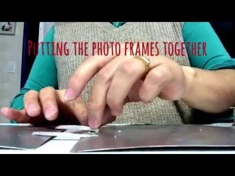 DIY How to make a hanging photo frame - Porta retrato colgante - YouTube