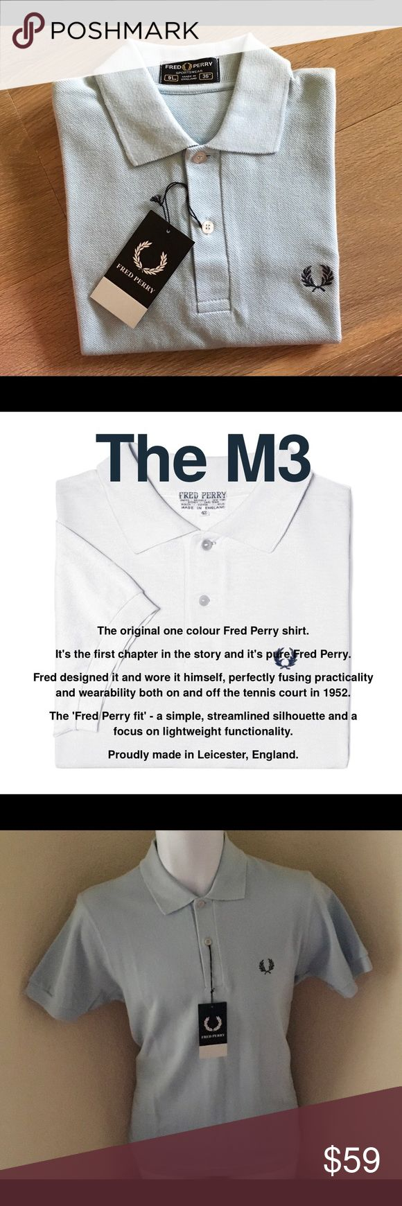 🎄New Fred Perry Original M3 Polo Shirt Small This is an original Fred Perry shirt made in England not China not the US.***AUTHENTIC*** purchased at Saks Fifth Avenue***This Shirt would make a HOT holiday gift🎁 Fred Perry Shirts Polos
