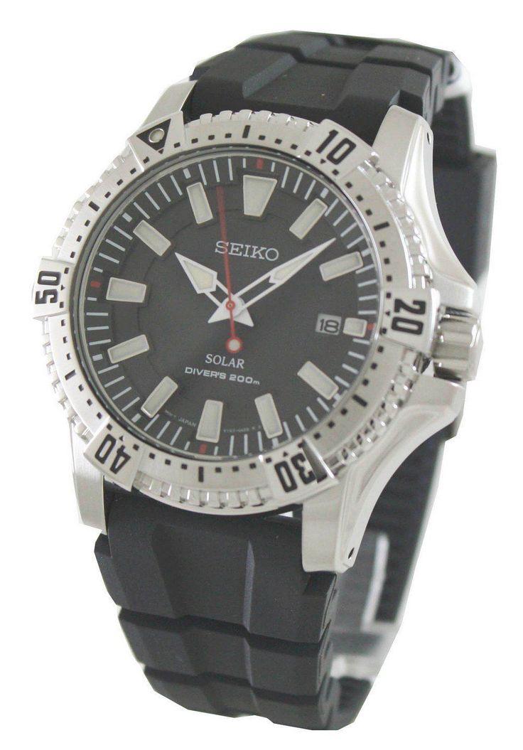 New Seiko Solar Divers SNE293P2 Mens Watch