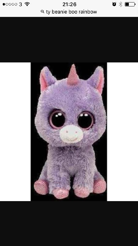 Lost on 12 Apr. 2016 @ Pontefract . Daughter has lost her beanie buddy rainbow the unicorn, unable to sleep as had for about three years , this is a larger one not the beanie boos, totally gutted and now retired so can't purchase ano... Visit: https://whiteboomerang.com/lostteddy/msg/fwdn3k (Posted by Keeley on 13 Apr. 2016)