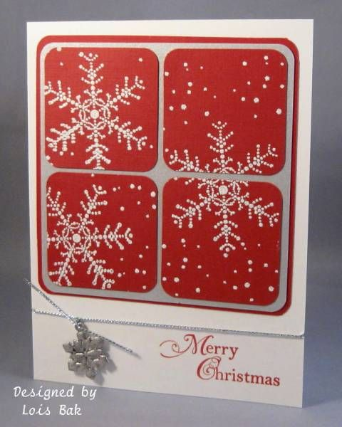 Snowflake Spot - Stampin Up: Christmas Cards, Squares Snowflakes, Snowflakes Cards, Snowflakes Spots, Christmas Snow, Snowflakes Christmas, Cards Snowflakesmen, Stampin Up, Red Christmas
