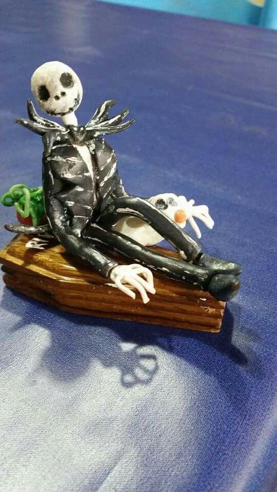 Topper di piccole dimensioni in c.f Jack scheletron