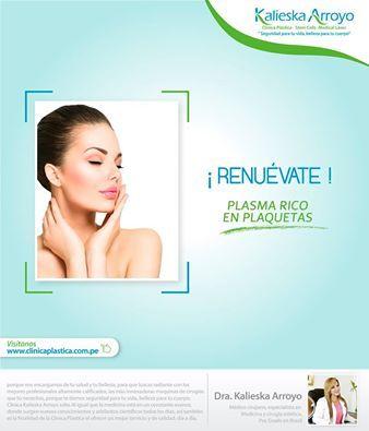 Kalieska Arooyo   El tratamiento de PRP ayuda a regenerar y a rejuvenecer los tejidos, así como estimula la curación de las heridas.