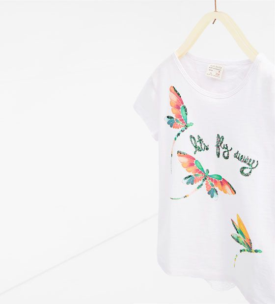 Image 2 of Embroidered T-shirt from Zara