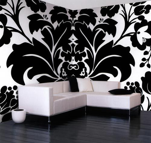Modern interiors in black and white