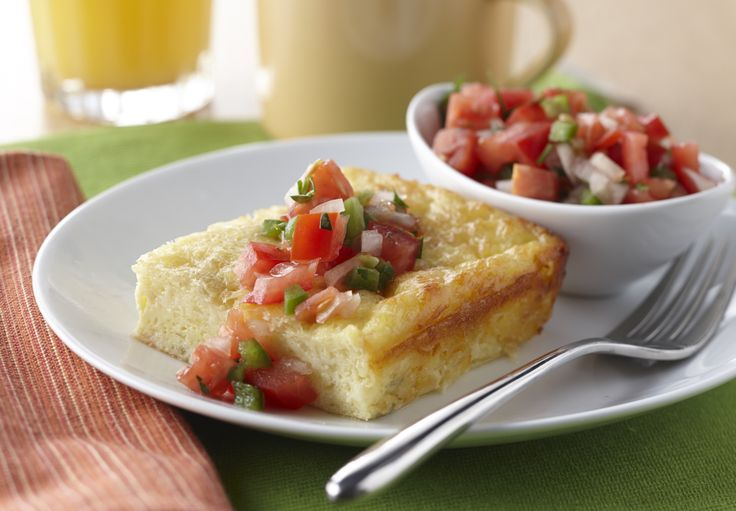 This crowd pleasing Egg Casserole gets added protein from AE Cottage Cheese and a Southwestern twist from green chilies. Serve for a tasty breakfast or as a meatless main.