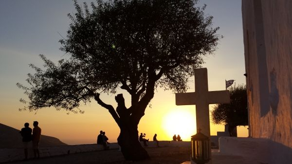 Sunset from church of Panagia