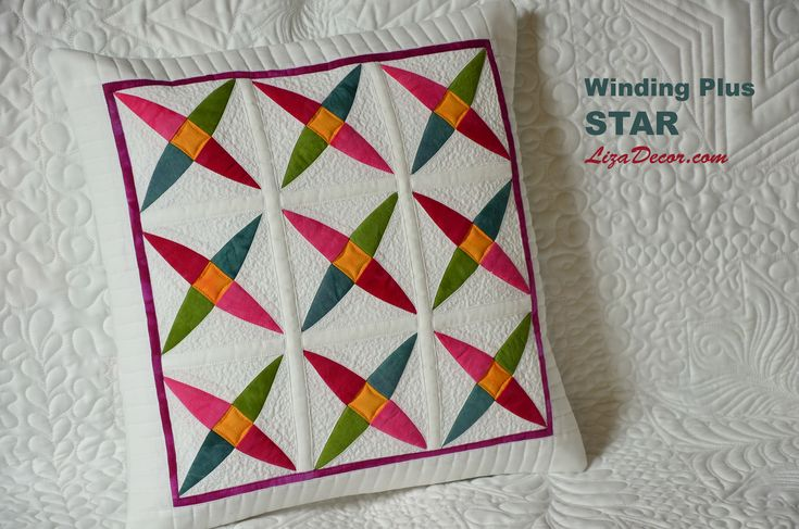 Winding Plus Star RED - Patchworková šablona Lizadecor.com #patchwork #video #tutorial #pattern #vzory #šablony #quilt #lizadecor