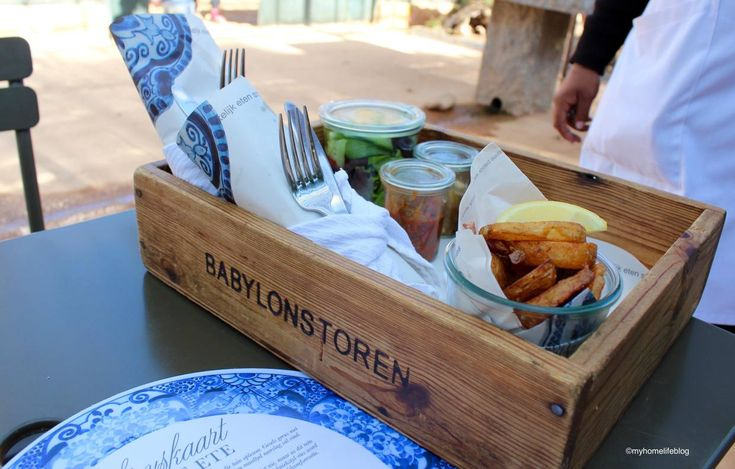 Lunch being served in wooden trays at the Greenhouse Restaurant - Babylonstoren.