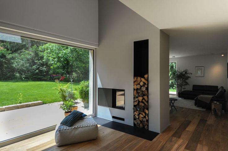 Finde moderne Wohnzimmer Designs: Heizkamin als Raumtrennung. Entdecke die schönsten Bilder zur Inspiration für die Gestaltung deines Traumhauses.