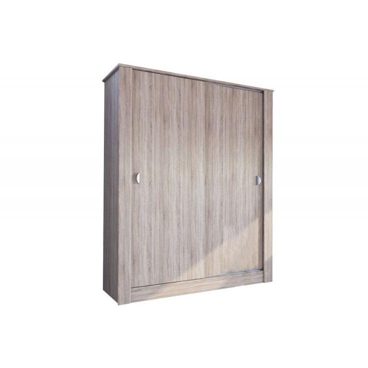 Ντουλάπα ρούχων δίφυλλη ANTIQUE 1 σε χρώμα sonoma 150x58x190