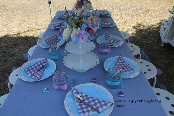 Blue Purple Kids High Tea Party