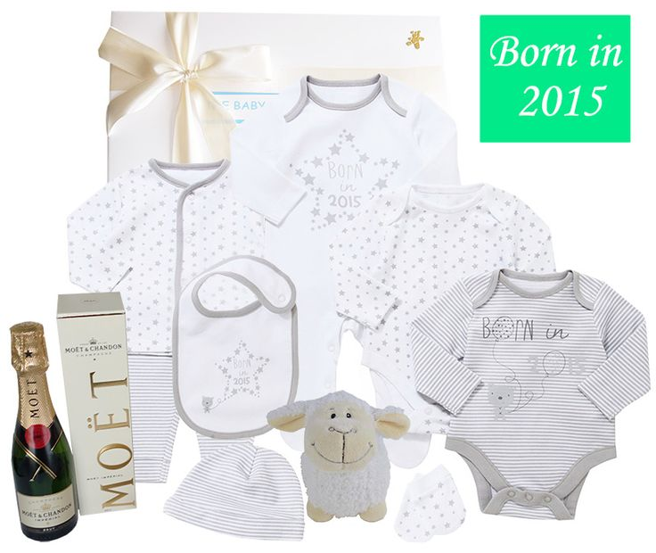 A fabulous 'Bundle of Joy Baby Gift Hamper', perfect for babies born in 2015. Luxury baby gifts to impress