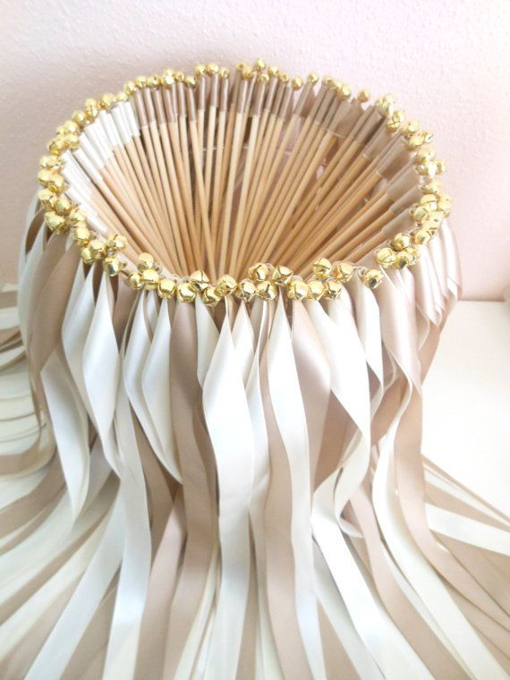 wedding ribbon wands party streamers set of 100 double ribbons with bells
