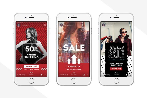 Swipe Up Instagram Stories Pack Instagram Story Promotional Design Instagram Story Template