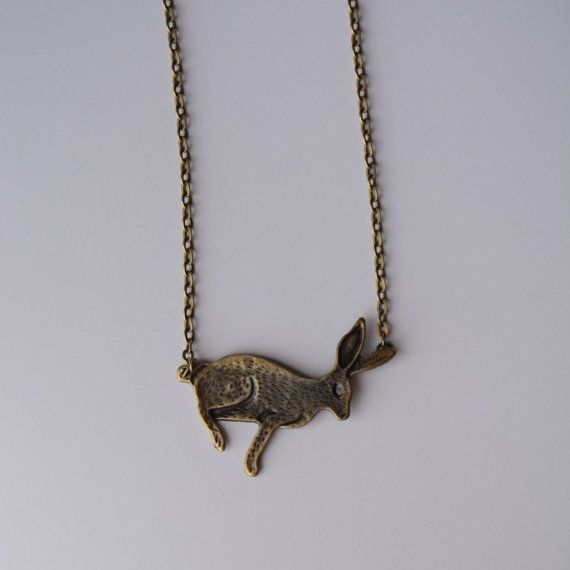 Woodland Inspired Rabbit Necklace in Antique by PrairieDustInc, $12.00