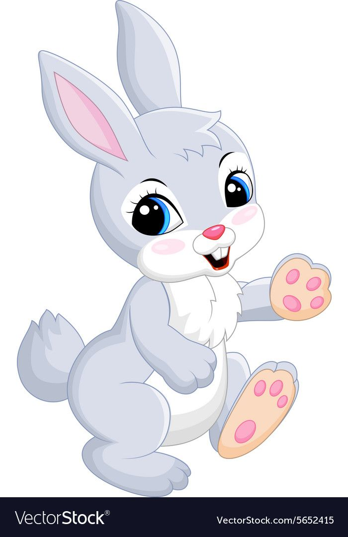 Illustration Of Baby Of Gray Rabbit On White Background Download A Free Preview Or High Quality Adobe Ill Cute Bunny Cartoon Minnie Mouse Drawing Bunny Images