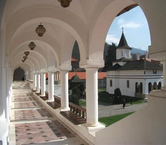 Romania Brancoveanu Sambata monastery Fagaras mountains
