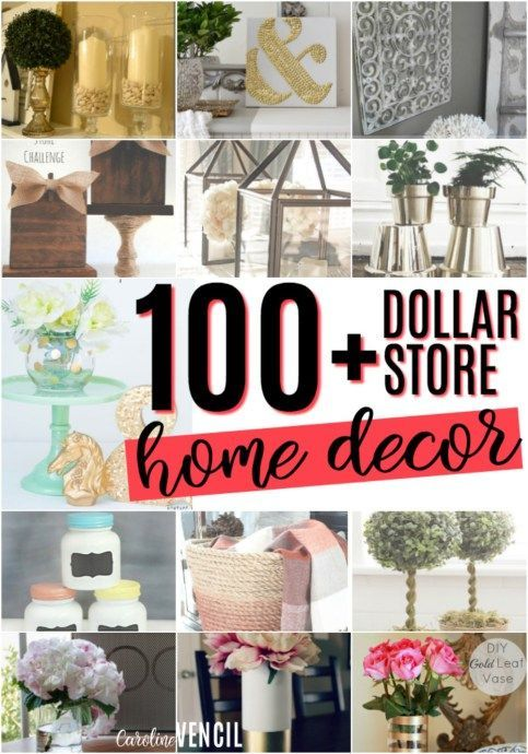 These Dollar Store Decor Hacks are THE BEST! I'm so glad I found these AWESOME home decor ideas and tips! Now I have great ways to decorate my home a a budget and decorate on a dime! Definitely pinning! Dollar store home decor ideas. Budget home decor ideas. Dollar store DIY. Dollar store home tips. Dollar store upcycles. DIY home decor. DIY Dollar Store Home Decorating Projects - it is possible to have a beautiful home on a budget. Check out these dollar store crafts!