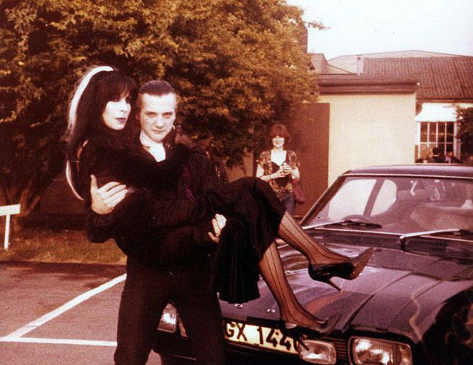 Dave Vanian Of The Damned And Wife Laurie Portraits