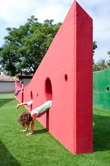 kids play wall - PUBLIC SPACE RAMAT HASHARON