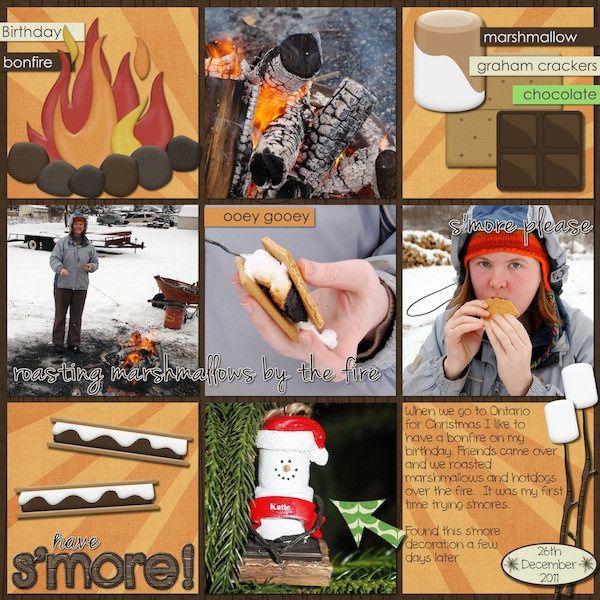 Smores Digital Scrapbook Page by Kaytea (Katie Spooner)